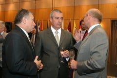 Calin Popescu Tariceanu and Jonathan Scheele Stock Image