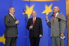 Calin Popescu Tariceanu och Jonathan Scheele royaltyfri fotografi