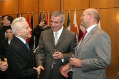 Calin Popescu Tariceanu och Jonathan Scheele Royaltyfria Foton