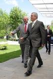 Calin Popescu Tariceanu och Jonathan Scheele royaltyfria bilder