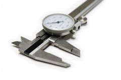 Caliper. Dial caliper isolated on the white background stock photography