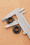 Caliper And Bolt Heads Stock Photos