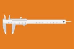 Caliper ikona Pomiarowy instrument Obrazy Stock