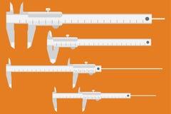 Caliper ikona Pomiarowy instrument Obraz Royalty Free