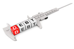Caliper Measure Debt Cubes Stock Images
