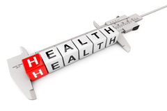 Caliper Measure Health Cubes Royalty Free Stock Image