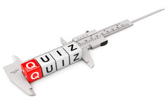 Caliper Measure Quiz Cubes Royalty Free Stock Photography