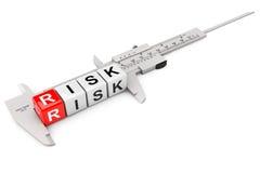 Caliper Measure Risk Cubes Stock Image
