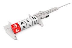 Caliper Measure Sale Cubes Stock Photo