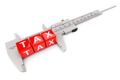 Caliper Measured Tax Cubes Stock Photography