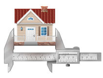 Caliper measures house building Stock Photography
