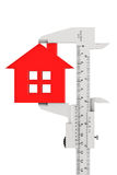 Caliper Measures House Building Royalty Free Stock Image