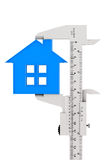 Caliper Measures House Building Stock Photo