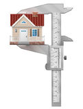 Caliper measures house Stock Images