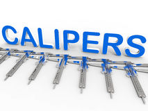 Calipers blue array Royalty Free Stock Images
