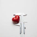 Calipers mesuring heart  Stock Image