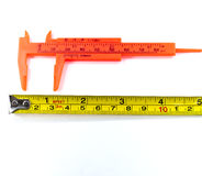 Calipers and tape measure Stock Photography