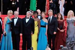 Calista Flockhart,Cate Blanchett,George Lucas,Harrison Ford,Karen Allen,Kate Capshaw,Steven Spielberg,The Crystals,CATE BLANCHETTE Stock Photos