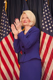 Calista Gingrich claps for Newt. Royalty Free Stock Photos