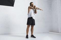 Calisthenic and bodyweight exercises Stock Photos