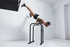 Calisthenic and bodyweight exercises Royalty Free Stock Images