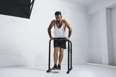 Calisthenic and bodyweight exercises Royalty Free Stock Photo