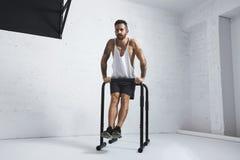 Calisthenic and bodyweight exercises royalty free stock photography