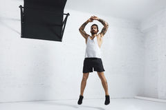 Calisthenic i bodyweight ćwiczenia zdjęcia royalty free