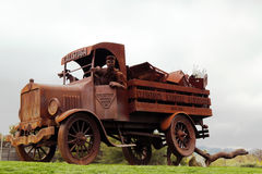 Water Truck Sculpture in Napa Valley, California. Stock Photo