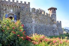 Calistoga, Napa-Vallei, Californië, de V.S. - 9 September, 2017: Castello Di Amorosa Stock Foto