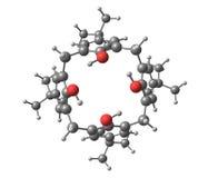 Calixarene molecule isolated on white Stock Photography