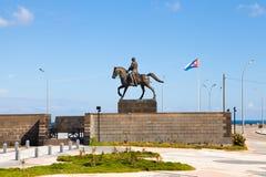 Calixto加西亚纪念碑在哈瓦那,古巴 免版税库存图片
