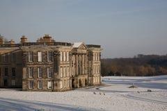Calke abbotskloster i snön Royaltyfria Bilder