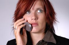 During a call royalty free stock photo