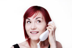 On a call Royalty Free Stock Photography