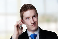On a call Royalty Free Stock Images