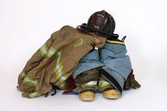 On Call. Fireman's gear stock photo