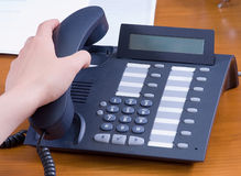 Call answering in office. Close-up Royalty Free Stock Photo