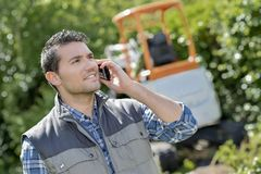 Call in backyard. A call in the backyard Stock Images