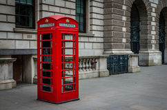 Call box. Red call box in london Royalty Free Stock Image