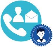 Call button of boy face Royalty Free Stock Photo