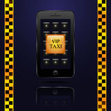 Call Button VIP taxi in the smartphone Stock Images
