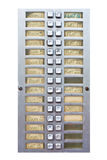 Call buttons. Individual call buttons at an apartment block Royalty Free Stock Image