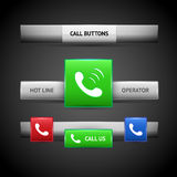 Call buttons for website Stock Photo