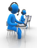 call center Royaltyfri Bild
