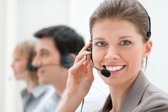 Call center. Business women and team working at call center Royalty Free Stock Photo
