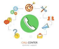 Call center Fotografia Stock Libera da Diritti