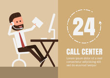 Call center Fotografie Stock