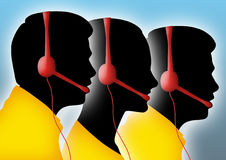 Call Center Abstract Royalty Free Stock Images