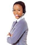 Call center africana di affari Fotografie Stock